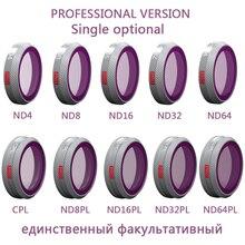 PGYTECH pojedynczy opcjonalny filtr profesjonalny do DJI Mavic 2 Zoom CPL ND 4 8 16 32 64 128 1000 ND-PL filtry soczewek do aparatu DJI MAVIC 2
