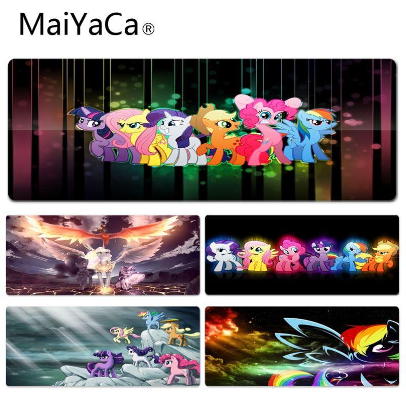 MaiYaCa, alfombrilla personalizada para ratón de goma de estilo Pony, tamaño de alfombrilla para 300*600 300*700 300*800 300*900 y 400*2 900mm