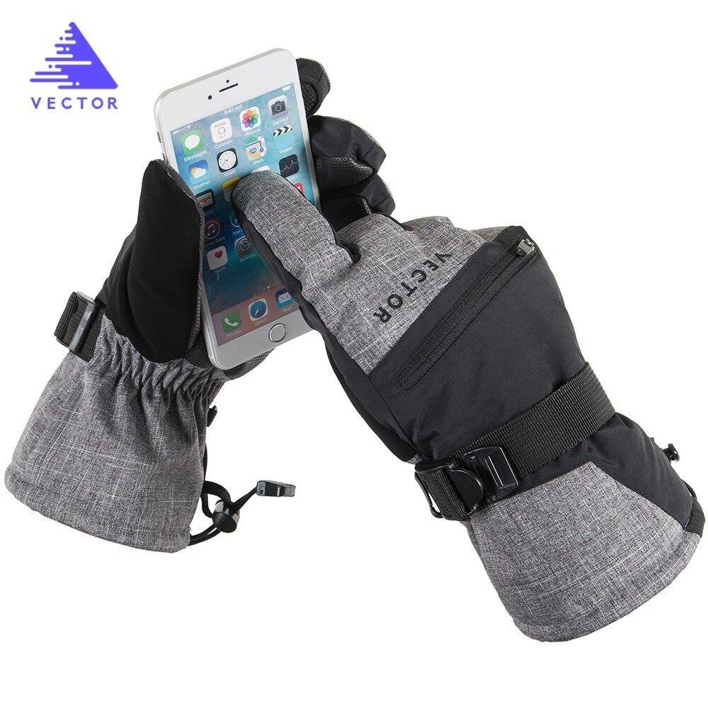 Перчатки с подогревом для катания на лыжах и сноуборде, водонепроницаемые перчатки для мужчин и взрослых, аксессуары для зимнего сезона, се...