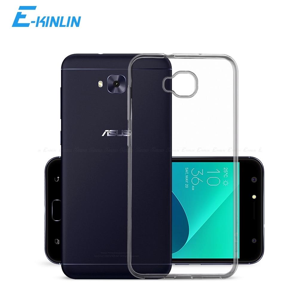 De cristal claro de silicona suave cubierta completa para Asus ZenFone 4 Selfie Pro Lite ZD553KL ZB553KL ZD551KL ZD552KL Ultra delgada de TPU caso