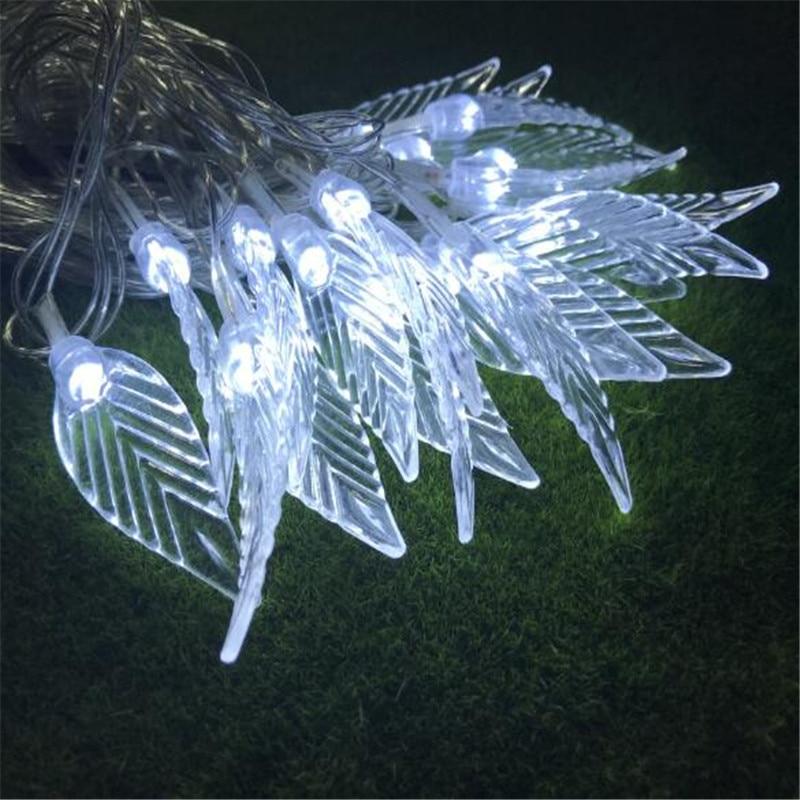 5M 28LEDs flower leaf garland Copper LED fairy string lights for christmas wedding decoration party Summer event