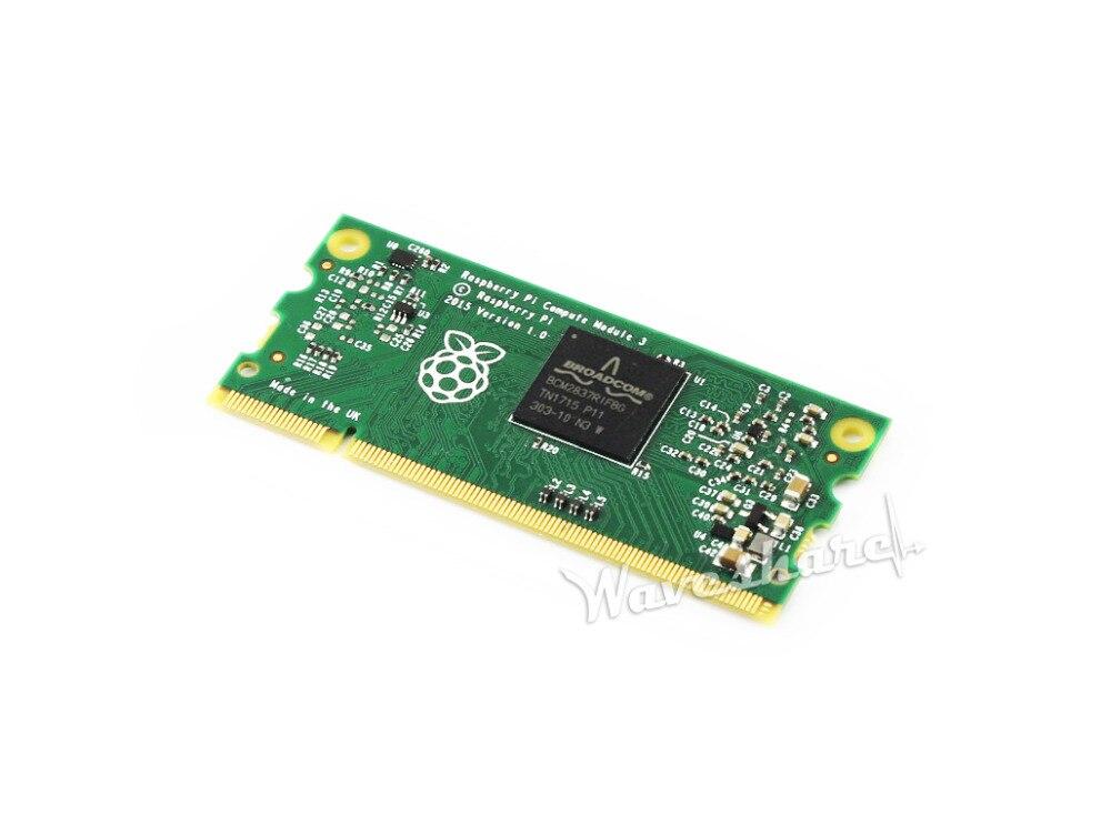 Módulo de cómputo 3 Lite 1GB de RAM 1,2 GHz Quad-core brazo Cortex-A53 Raspberry Pi 3 Flexible de factor de forma sin Flash eMMC