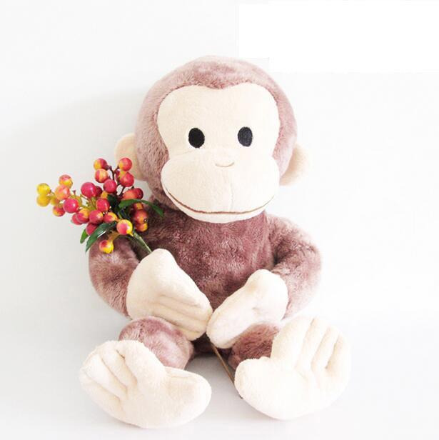 Curious George Macaco bichos de pelúcia brinquedo de pelúcia macia para presente do bebê 40 cm