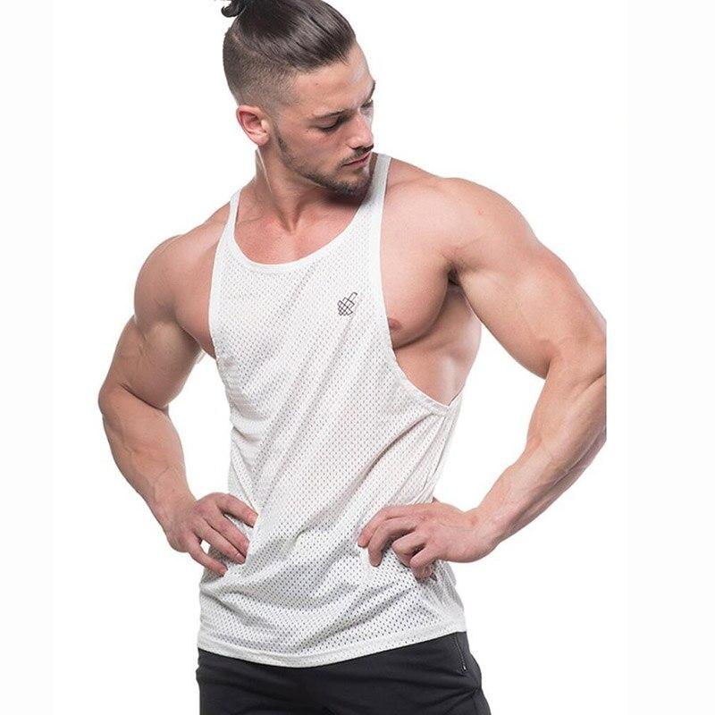2020 Fitness Men Tank Top Mens Bodybuilding Stringers Tank Tops Singlet Brand Clothing