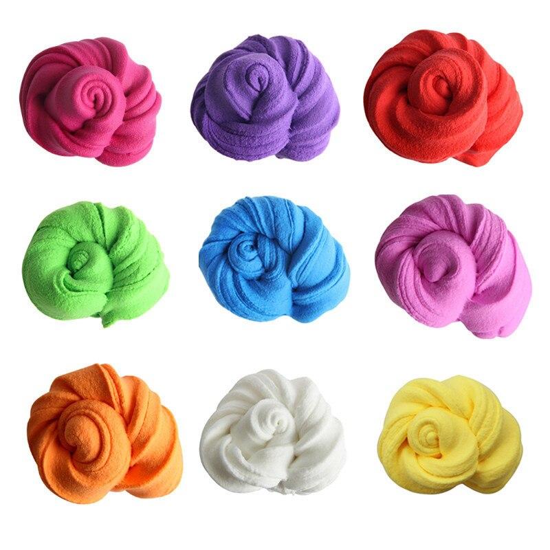 50g DIY Slime fluffy light Clay Floam perfumado sin bórax Arcilla De moldear para niños barro de algodón para liberar alivio estrés juguete