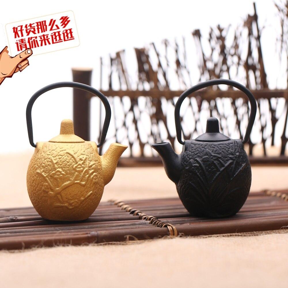 Tetera de té verde pequeña tetera japonesa orquídea mini ollas de hierro fundido teteras orquídea palmera Japón hierro fundido té especial