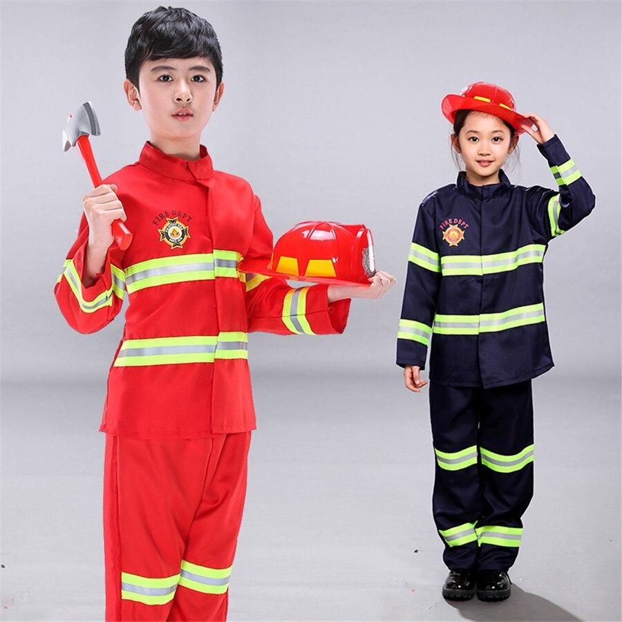 Disfraces de bombero para niños, conjunto de ropa para bebés y niños, disfraz de bombero Roleplay para niños y adolescentes con cinturón