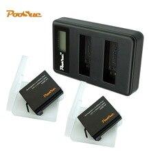 Ahdbt 401 AHDBT-401 Batterie gopro + LED USB go pro hero 4 batterie Ladegerät für GoPro hero 4 schwarz Action Kamera gopro