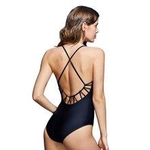 2018 nouveau Vintage dos nu une pièce maillot de bain femmes maillots de bain maillot de bain dos croisé Bandage Monokini plage porter rétro maillot de bain