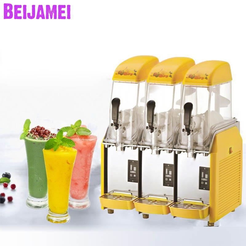 بيجامي-آلة مشروبات عصير بارد ، 3 أسطوانات ، طين ثلج ، صانع ثلج تجاري
