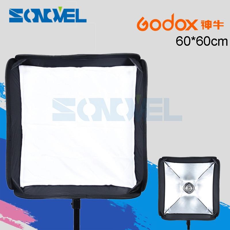 "Godox 60x6 0 cm/24 ""* 24"" Softbox plegable caja suave adecuado para soporte tipo S Cámara estudio Flash fit Bowens Elinchrom SoftBox set"