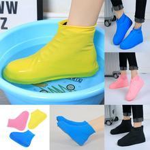 Offres spéciales couvre-chaussures en Latex   Couvre-chaussures antidérapants, couvre-bottes de pluie imperméables réutilisables, chaussures multicolores