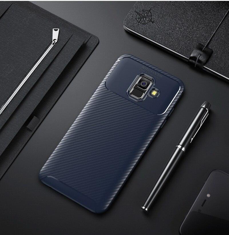 Funda de teléfono de lujo para Samsung Galaxy A6 2018 armadura Fundas...