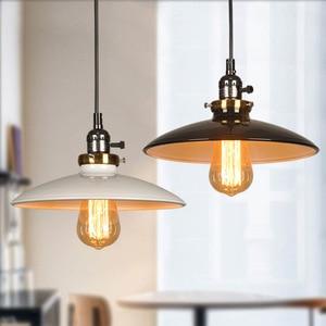 Creative UFO Style Knob Switch Pendant Light Retro Industrial Wind Iron E27 Hanging Lamp Home Hotel Cafe Decorative Hanging Lamp