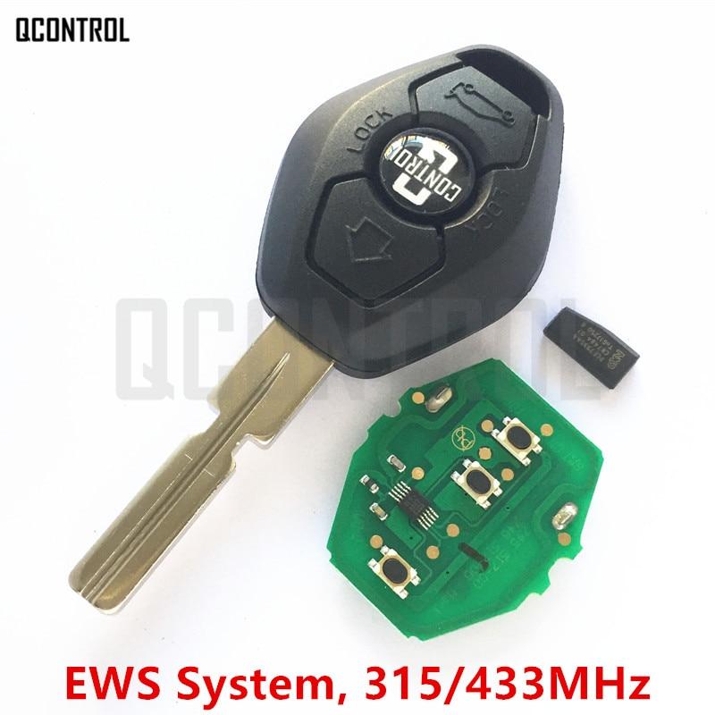 """QCONTROL автомобиль дистанционного ключа """"сделай сам"""" для BMW EWS 1/3/5/7 серий, X3 X5 Z3 Z4 с ID44 PCF7935AA чип HU58 лезвие 315 МГц/433 МГц"""