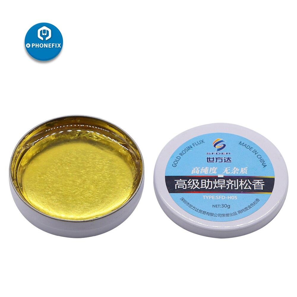 PHONEFIX 30g Flujo de pasta de soldadura de colofonia de alta pureza para PCB placa base Estación de Reparación herramientas de reparación de soldadura de hierro