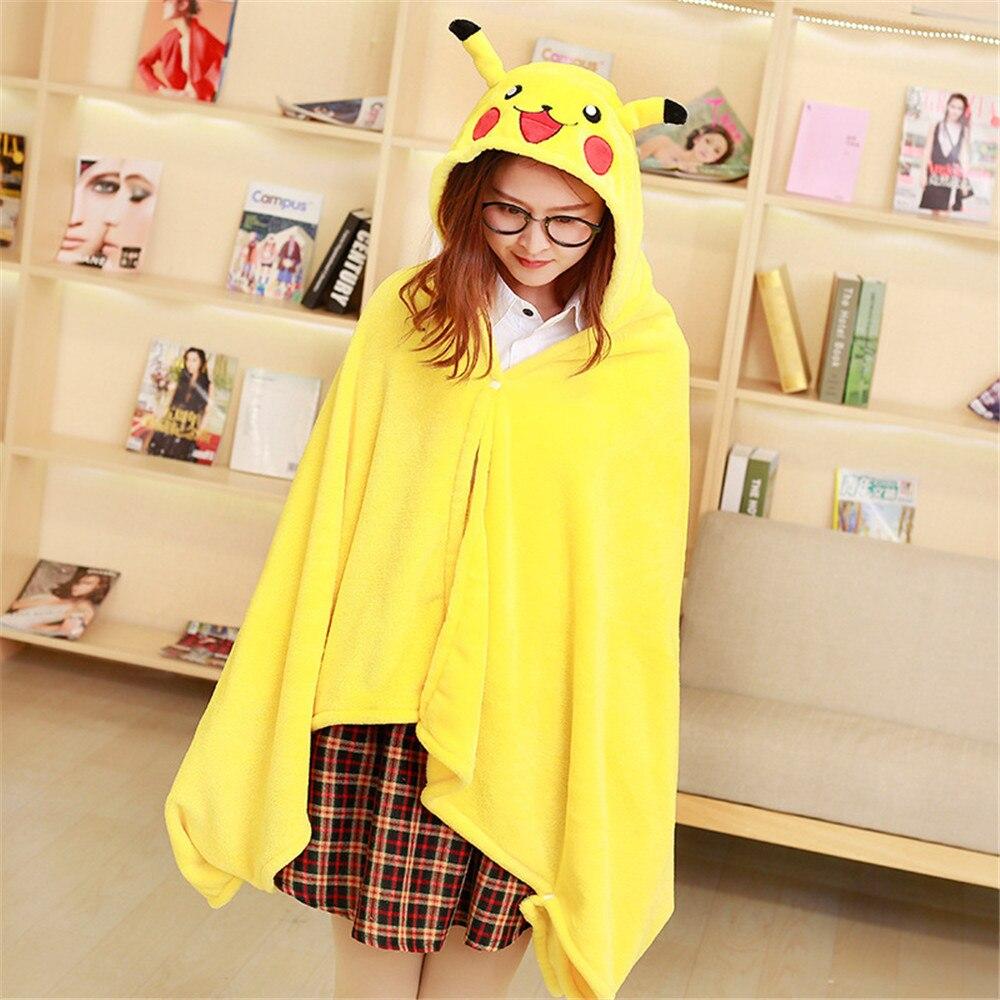 Cosplay Anime Pikachu My Neighbor Totoro cloak lazy hooded cloak costumes for women girls Halloween costume shawl