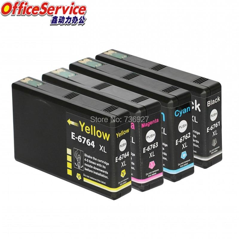 Cartucho de tinta Compatible T6761 T6762 T6763 T6764 para Epson WP-4010 WP-4020 WP-4023 WP-4090 WP-4520 4530, 4533 de 4540 impresora 4590