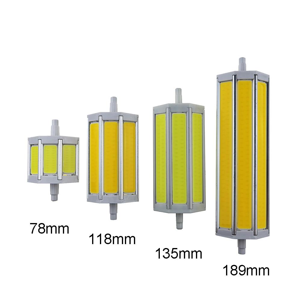 R7S COB led bulb lamp r7s led lights 5W 10W 15W 20W light lighting lamp AC85-265V replace halogen floodlight AC110V 127V 220V