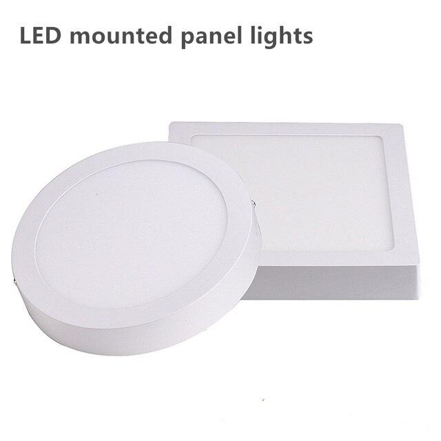 Superficie montada LED techo abajo luz alto lúmenes 18W LED Panel de luz con controlador 85-265V interior luz LED