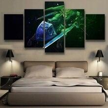 Peinture murale de salon 5 pièces/pièces   Décoration murale, légende de Zelda, affiche, toile Art, images imprimées HD modulaires