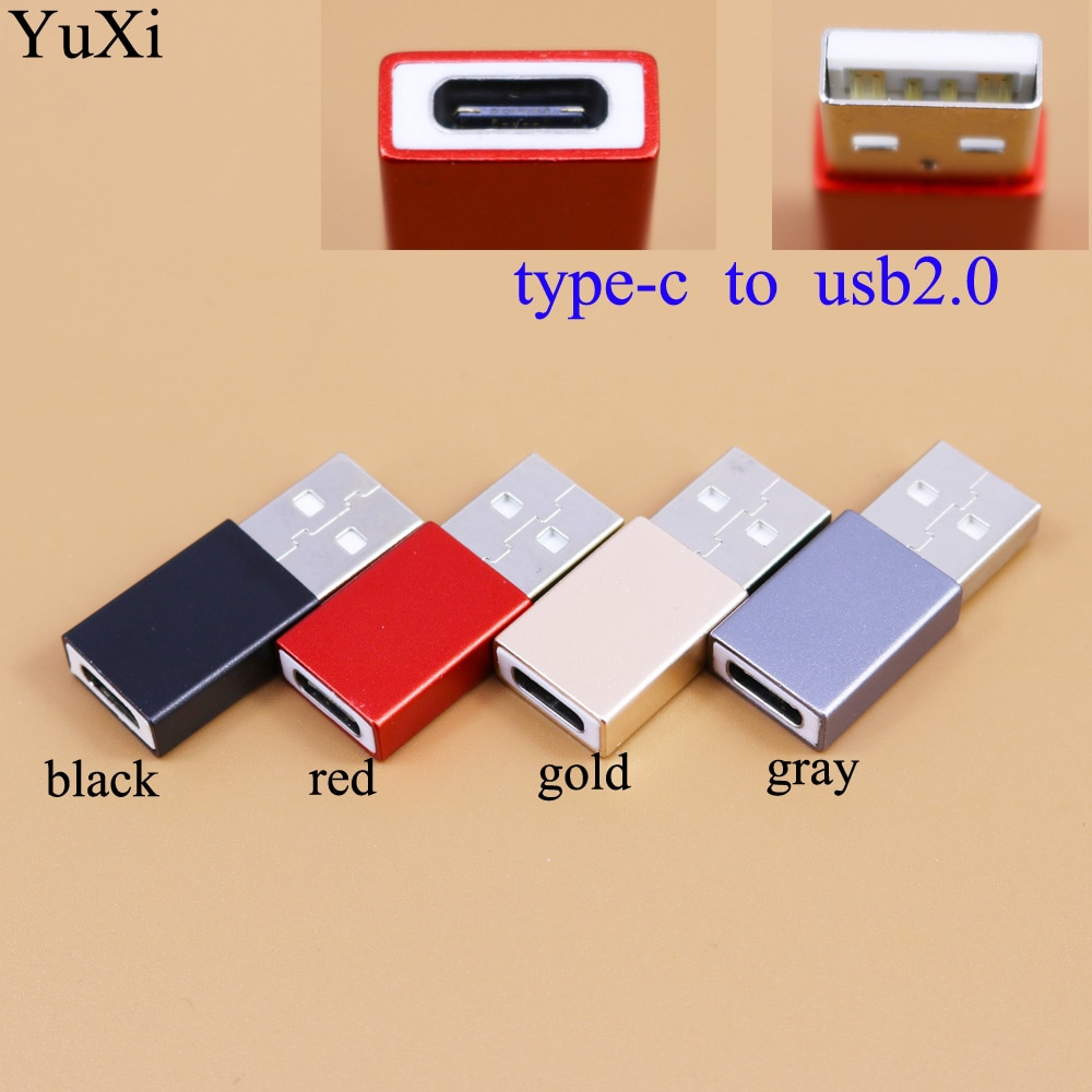 YuXi USB 2.0 Male to USB Type C Female OTG Adapter Converter for Macbook PC Male OTG Adapter TYPE-C Female Data Charger Cable недорого