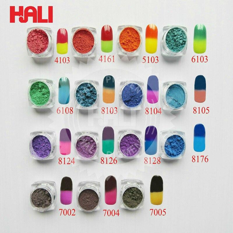 Термохромированный пигмент 26 цветов, термо-порошок для изменения температуры, украшения от пыли, градиентные 3d-насадки для дизайна ногтей, инструменты для маникюра