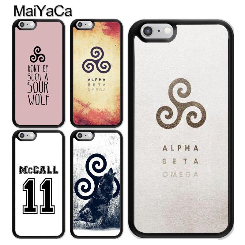 Teen Wolf Scott McCall logotipo Coque accesorios para iPhone 11 Pro MAX X XR XS MAX SE 2020 6 7 8 Plus 5s cubierta Coque