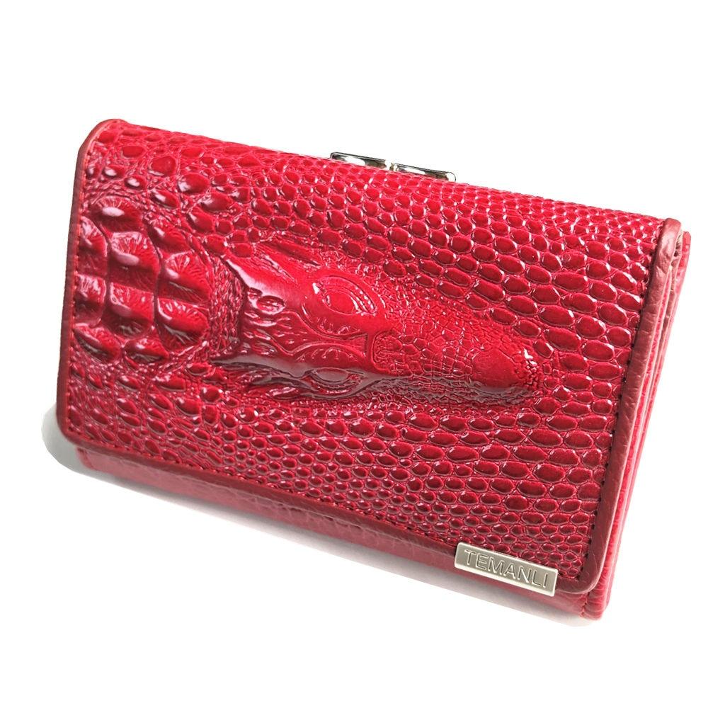 Hahmes women leather short wallets , Crocodile 3D mini purse wholesale new fashion woman card holder wallets