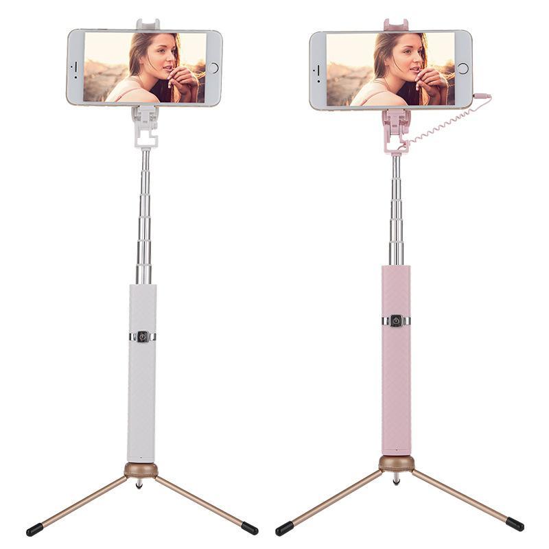 Portátil 7 Secciones ajustable Bluetooth Selfie Stick moda Selfie Stick S3 cámara para IOS Android Smartphone Selfie Stick d20