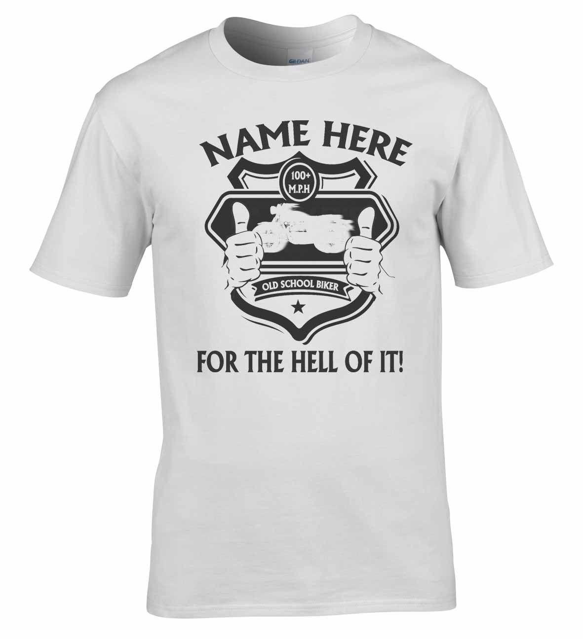 2019 High Quality Casual Printing Tee MOTARD T-Shirt Moto T-shirt  Votre Nom  Ton UP Garcon Man T-Shirt