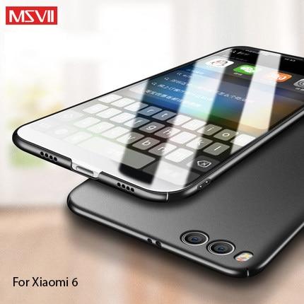 100% Оригинальный MSVII Роскошный чехол для Xiaomi mi6 prime, твердый ПК простой и матовый Стильный чехол-накладка для xiaomi 6 mi 6 в наличии