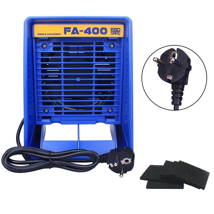 220 V/110 V FA-400 Solder eisen Rauch Absorber ESD Fume Extractor Rauchen Instrument mit 5 stücke kostenloser Aktiviert carbon Filter Schwamm