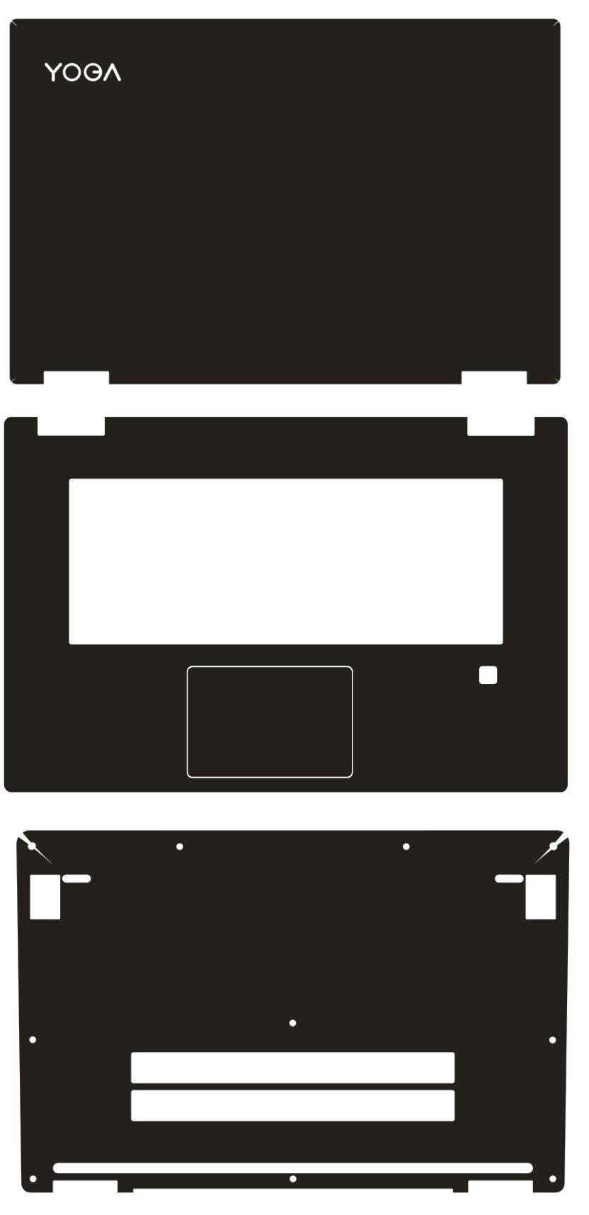 "Protector especial de piel de fibra de carbono para portátil para Lenovo Yoga 720, pantalla táctil de 15,6 ""y 720-15"
