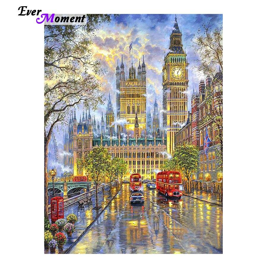DIY 5D Diamant Stickerei Kristalle Diamant Mosaik Bild Landschaft London Strass Diamant Malerei Kreuz Stich Kits ASF321