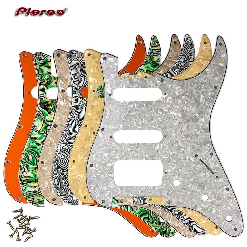 Pleroo Guitar Parts - For USAMexico Fd Stratocaster 72 11 Screw Hole Standard St Humbucker Hss Guitar pickguard Scratch Plate