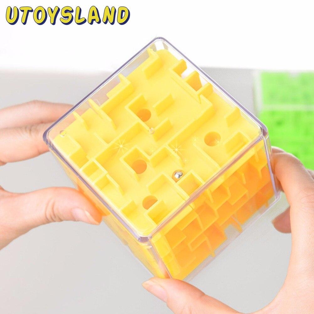 Lustige 3D Magie Würfel Labyrinth Puzzle Geschwindigkeit Cube Puzzle Spiel Labyrinth Roll Magische Labyrinth Ball Balance Gehirn Teaser Lernen Spielzeug