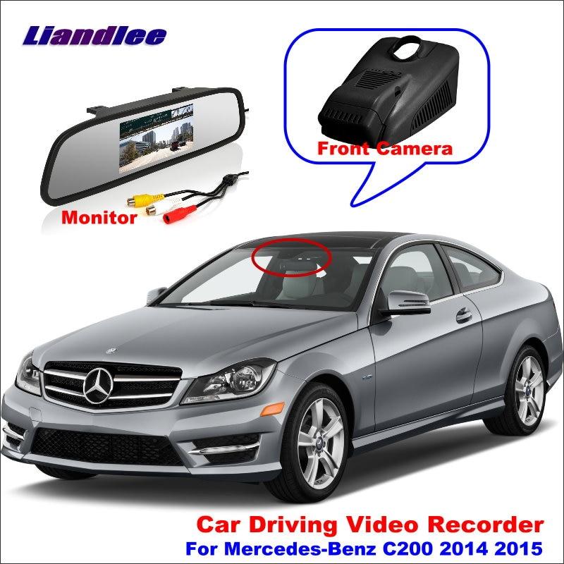 Liandlee Car DVR Front Camera Driving Video Recorder Mirror Monitor For Mercedes Benz C200 W205 2014 2015 HD AUTO CAM