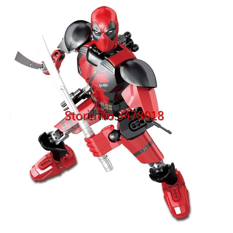 Sermoido blocos maravilhados super heróis deadpool thanos hulk doutor estranho ebony maw veneno super-heróis lepining brinquedos