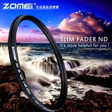 ZOMEI mince réglable ND filtre ND2-400 densité neutre Fader Variable 49/52/55/58/62/67/72/77/82mm