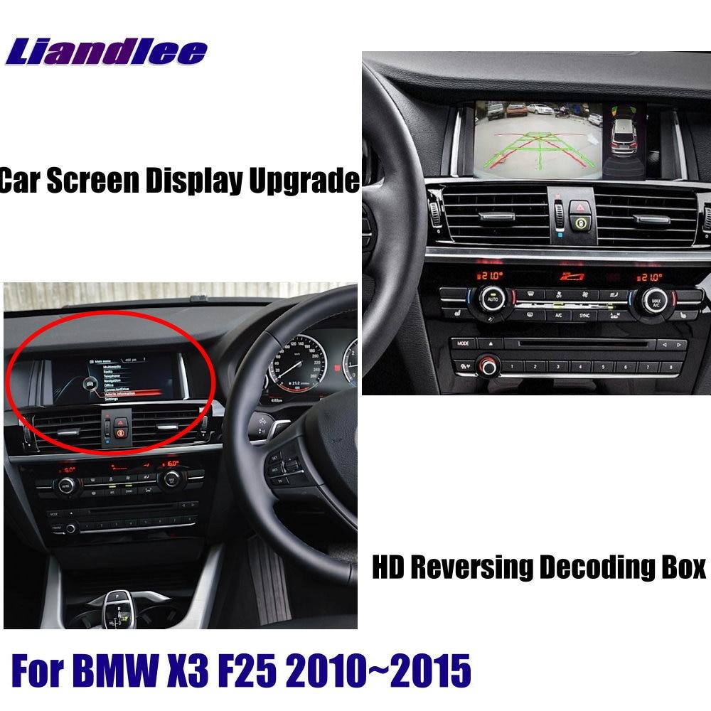 For BMW X3 F25 2010-2015 HD Reverse Decoder Box Module Rear Parking Camera Image Car Screen Upgrade Display Update