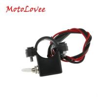 Motolovee motocicleta interruptor duplo duplo flash luz de advertência interruptor 2.2-2.5cm diâmetro diy guiador interruptor para scooter moto