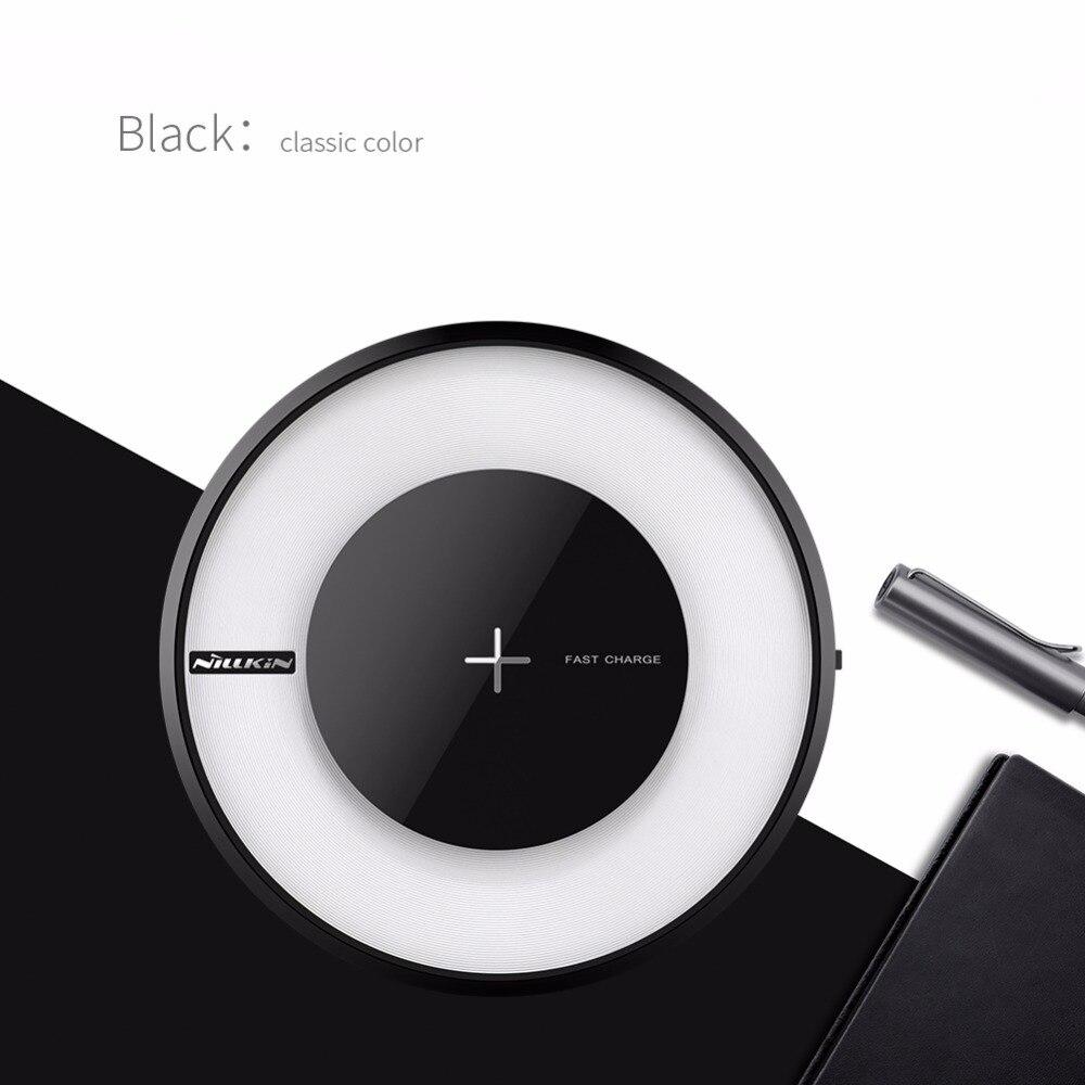 Nilkin для iPhone X 8 Plus Беспроводное зарядное устройство NILLKIN Magic Disk 4 Быстрая QI Беспроводная зарядка Pad для Samsung S9 S8 Plus S7 Note 8