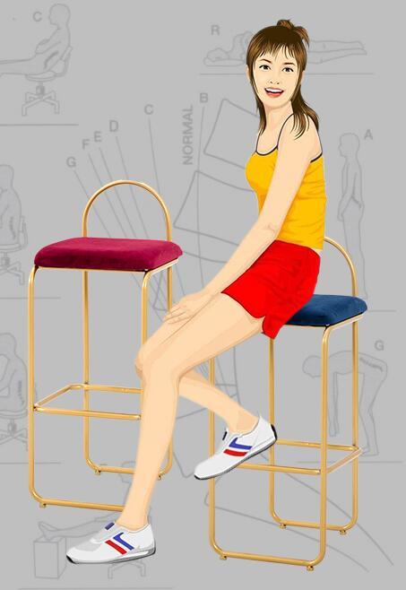 Nordic bar stool modern minimalist light luxury high stool chair metal wrought iron home creative personality bar chair high quality 42cm 62cm 72cm nordic bar stool bar chair creative coffee chair gold high stoolgolden modern leisure metal chair