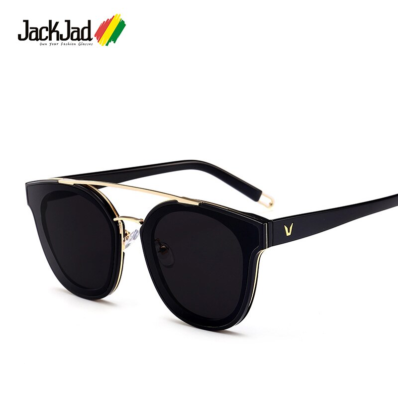 Женские солнцезащитные очки JackJad, популярные солнцезащитные очки в новом стиле, фирменный дизайн, карамельного цвета, цвета морской волны, 7177