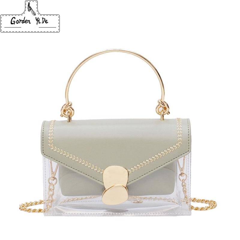 Bags For Women 2019 Clear Transparent PVC Bag Jelly Shoulder Bag Beach Letter Candy Women Crossbody Luxury Sac Femme