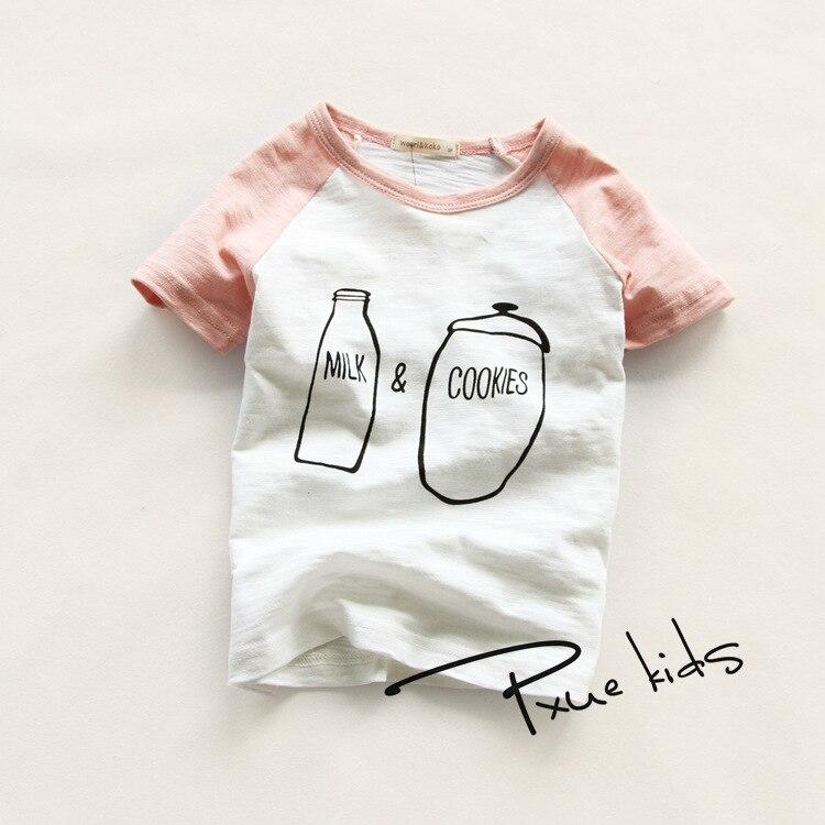 Маленьким мальчикам 2-7 лет футболки Retail футболки O-neck футболки с короткими рукавами из хлопка летние футболки