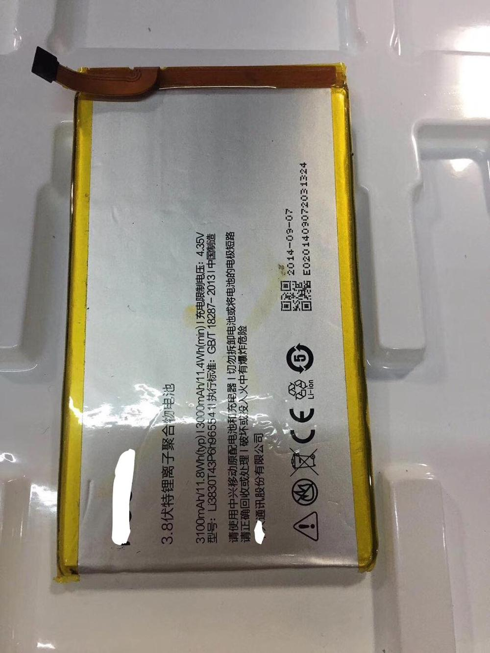 FOR ZTE nubia Z7 NX506J Li3830T43P6h965541 battery Rechargeable Li-ion Built-in lithium polymer battery enlarge