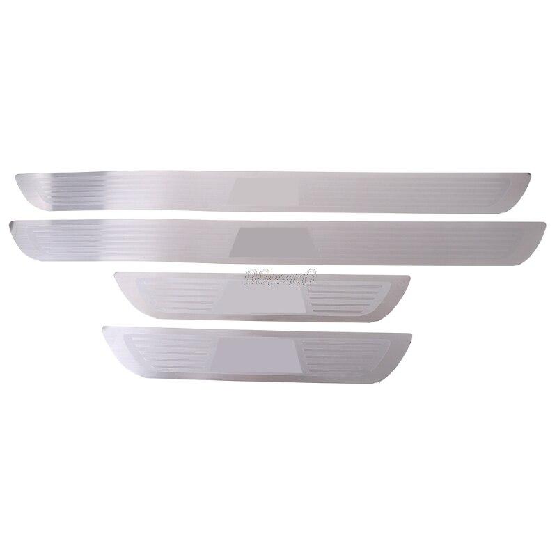 Umbral de puerta placa de desgaste travesaño de Pedal para BMW X1 E84 X3 F25 X5 E70 X6 E71 serie 1 3 5 7 de junio de DropShip