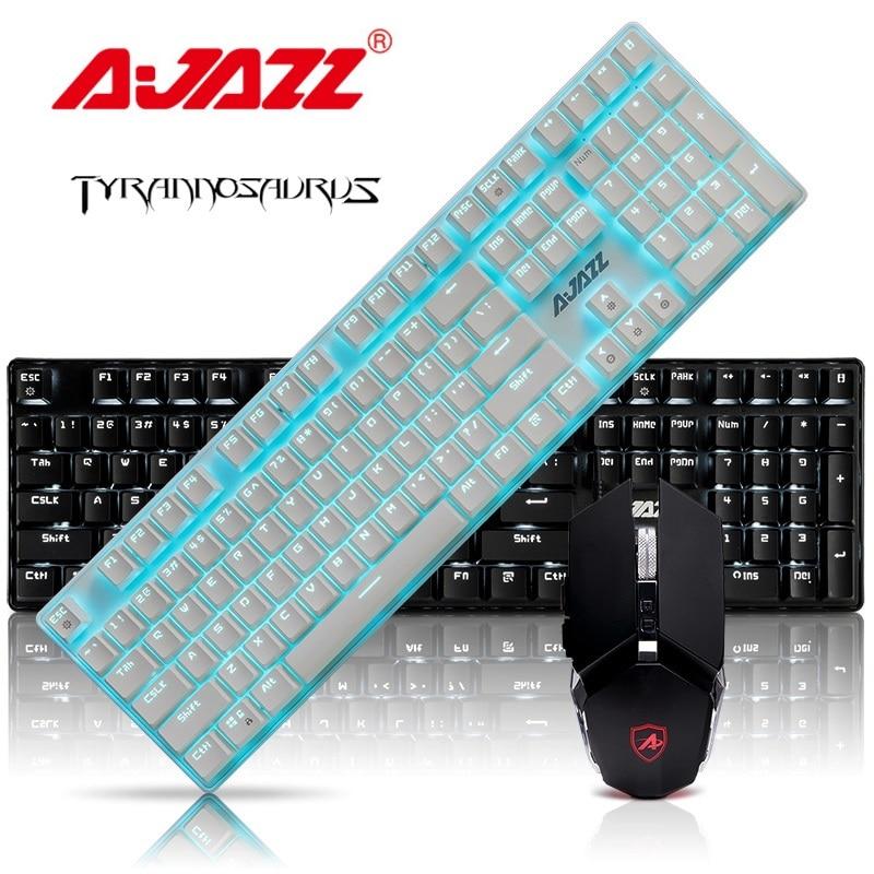 Ajazz Tyrannosaurus Esports USB Проводная Механическая клавиатура с подсветкой и набор мыши